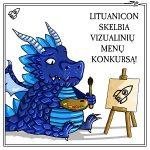 Mėlynas pieštas drakonas tapo Lituanicon vizualinių menų konkurso skelbimas